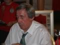 Gordon Banks seated, signing
