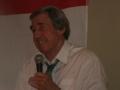 Gordon Banks with microphone landscape