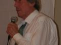 Gordon Banks with microphone portrait 2
